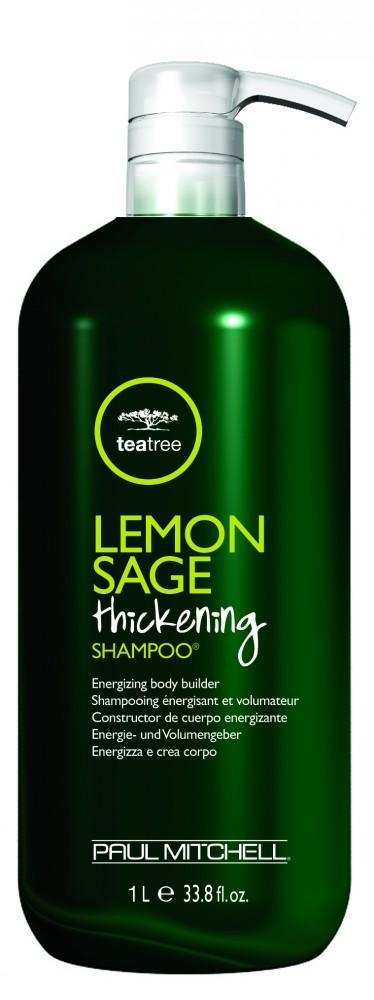 Paul Mitchell Tea Trea - Lemon, Sage Thickening Shampoo - Citromos, Zsályás Hajdúsító Sampon, 1L