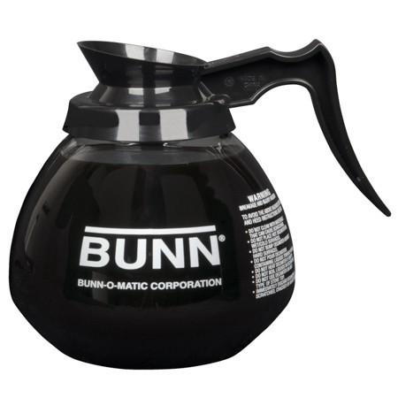 Bunn - Glass Decanter, (black) - Üveg Kiöntő (Fekete), 1,9L, 1db
