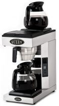 COFFEE QUEEN Filteres Kávéfőző2, A2, + 2db 1,8L Üveg Kiöntő (Fekete)