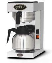 COFFEE QUEEN Filteres Kávéfőző1, Thermos Office + 1,9L Fém Hőtárolós Kiöntő (Fekete)