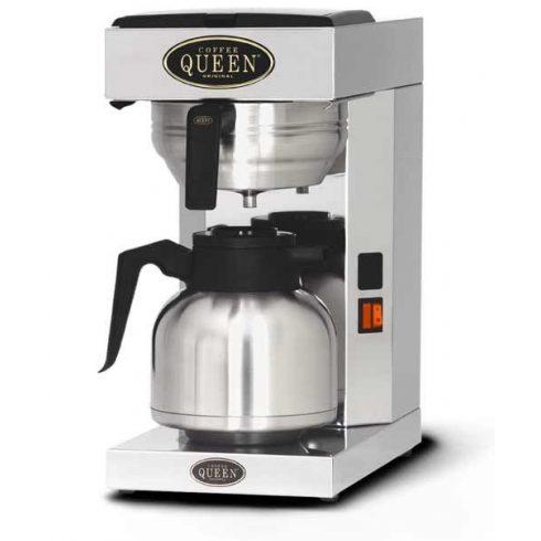 COFFEE QUEEN Filteres Kávéfőző1, Thermos Office + 1,9L Fém Hőtárolós Kiöntő (Fekete) - megrendelésre
