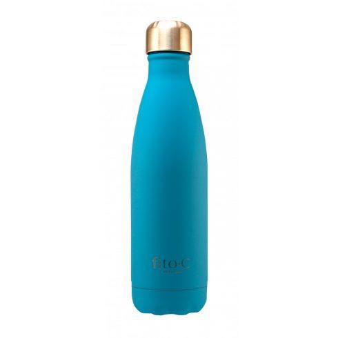 fito.C - Turquoise Blue Mat Velvet Thermos Bottle - Türkizkék Mattbársony Termosz Palack, 500ml