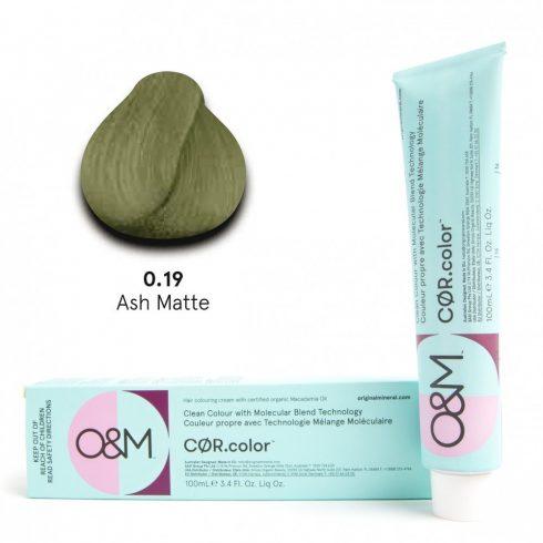 O&M - Cor.color - Pure Colours - Ash Matte - Direkt Színek - Hamvas Zöld - 0.19, 100ml