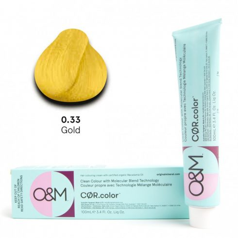 O&M - Cor.color - Pure Colours - Gold - Direkt Színek - Arany - 0.33, 100ml
