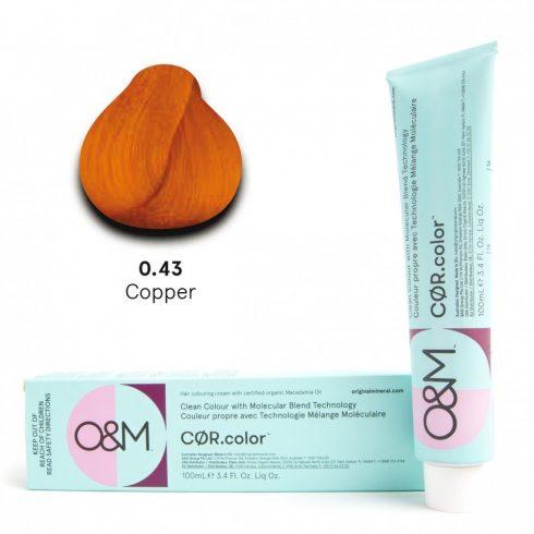 O&M - Cor.color - Pure Colours - Copper - Direkt Színek - Narancs - 0.43, 100ml