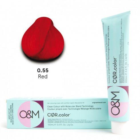O&M - Cor.color - Pure Colours - Red - Direkt Színek - Vörös - 0.55, 100ml