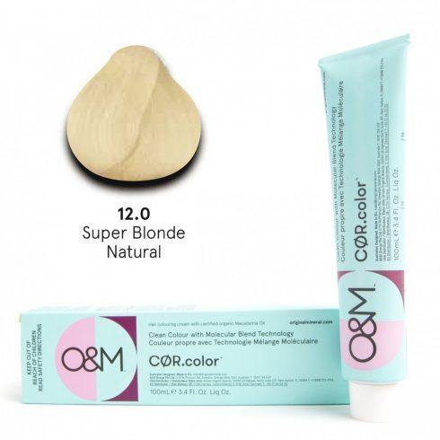 O&M - Cor.color - Super Blonde - Natural - Szuper Szőke - Természetes - 12.0, 100ml