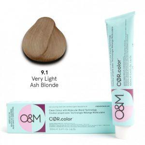 O&M - Cor.color - Ash - Hamvas - 9.1, 100ml