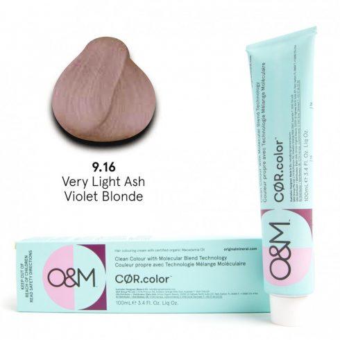 O&M - Cor.color - Ash Violet - Hamvas Viola - 9.16, 100ml