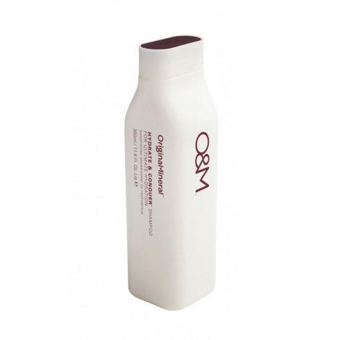 O&M - Hydrate&Conquer Shampoo, for Ultimate Hydration - Hidratáló Krémsampon, 350ml