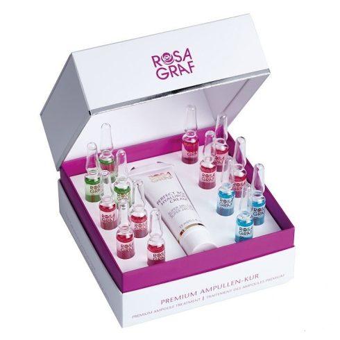 Rosa Graf - Premium Ampoulle Treatment - Hyaluron és Peptid Krém és 14 Napos Ampulla Kúra, 15ml és 14db*2ml