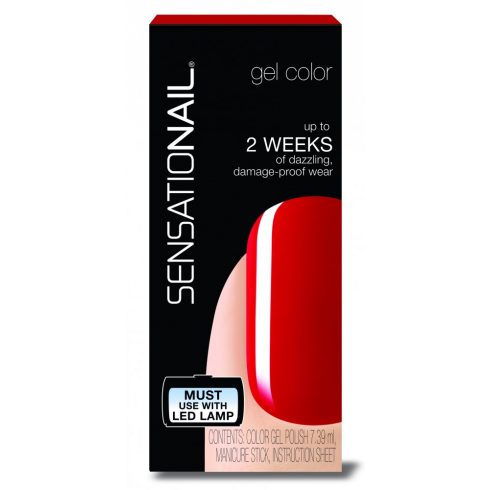 Sensationail - Gél Lakk - Scarlet Red, 7,39ml