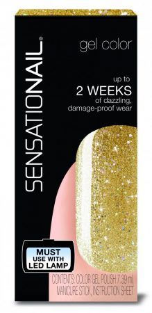Sensationail - Gél Lakk - Gold Glitter, 7,39ml